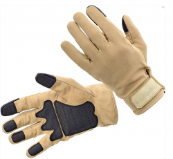 Картинка Defcon 5 SHOOTING AMARA GLOVES WITH REINFORSED PALM COYOTE TAN L ц:песочный