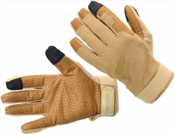 Картинка Defcon 5 SHOOTING GLOVES WITH LEATHER PALM COYOTE TAN XL ц:песочный